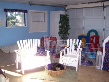 Climate controlled sleeping, napping and indoor play area